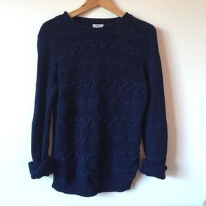 Madewell Wallace Crewneck Cable Knit